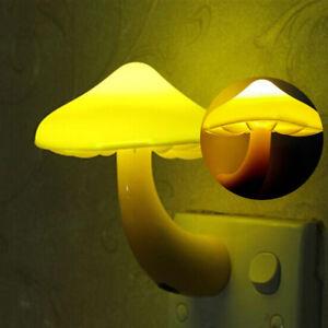 Mini-Champignons-Prise-Murale-Capteur-Lampe-Veilleuse-Pour-Bebe-Enfants-Chambre