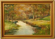 » Herbstwald mit Bachlauf « monogr. AJ
