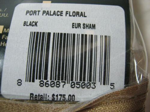 New RALPH LAUREN PORT PALACE FLORAL EURO European SHAM Black-Ivory Flower NIP