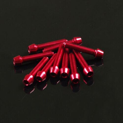 10 Stück Aluminium Schrauben 7075er M4x20 m 3mm Innensechskant Aluschrauben rot