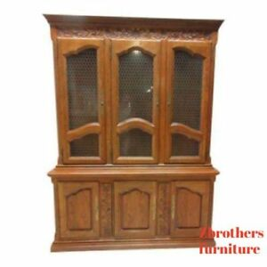 Image Is Loading Hickory Co Country French China Cabinet Hutch Oak
