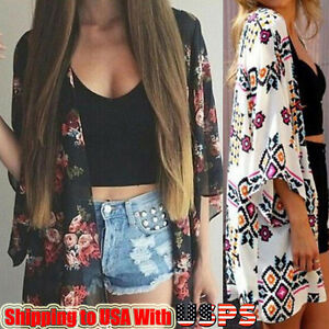 Summer-Womens-Floral-Printed-Chiffon-Kimono-Cardigan-Shawl-Blouse-Tops-Cover-up
