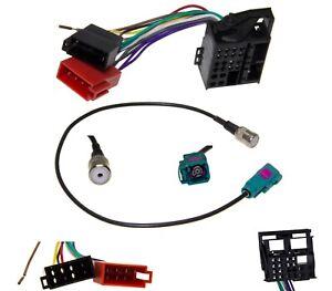 Radio-Antennen-Adapter-KFZ-ISO-Adapter-Kabel-Quadlock-MOST-Stecker-fuer-VW-RCD