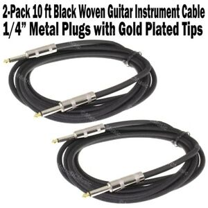 2 Pack Strukture 10 ft Instrument Cable Black