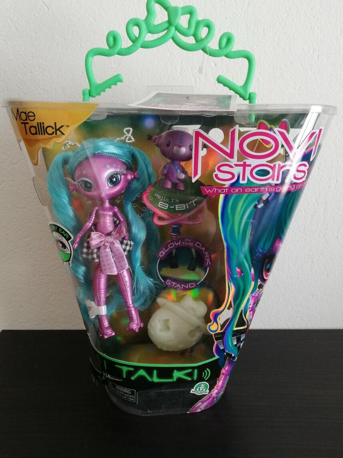 Novi Stars I Talk Glow In In In The Dark MAE TALLIC 7'' doll & 8-Bit pet MGA 36927a
