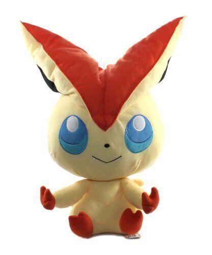 "47438-18/"" Victini Pokemon Best Wishes Black And White Giant Head Plush"