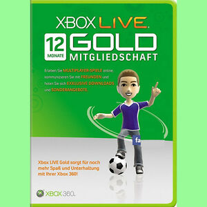 Xbox ONE 360 Live 12 Monate Month Gold Mitgliedschaft Karte Card Code Per Email