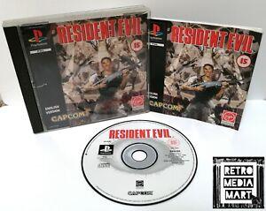 Resident-Evil-Sony-Playstation-ps1-Black-Label-Spiel-PAL-Disc-ausgezeichnete-CIB