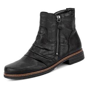 Details zu Gabor Damen Stiefelette Stiefel Lederschuhe Reißverschluss Boots Schuhe schwarz