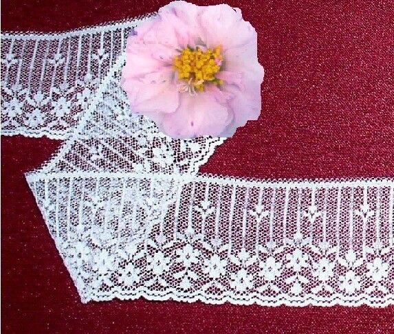 White Lace Trim 10 - 40 Yds x 2-1/4