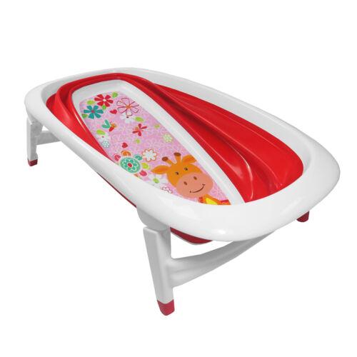 Baby Bath Giraffe Design Splash /& Play Time Foldable Red Transportable BathTub