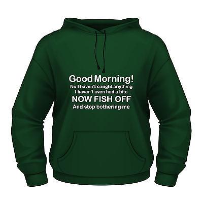 """Accurato Funny Pesca Felpa Con Cappuccio """"pesce Off E Smettere Di Preoccuparsi Di Me"""" (figlio Amichevole Versione)-mostra Il Titolo Originale"""