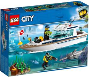 60221 DIVING YACHT lego LEGOS city town NEW boat kit set scuba diver shark