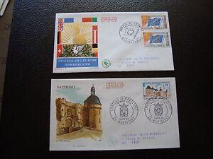 FRANCE-2-enveloppes-1er-jour-1969-chateau-de-hautefort-conseil-europe-B8