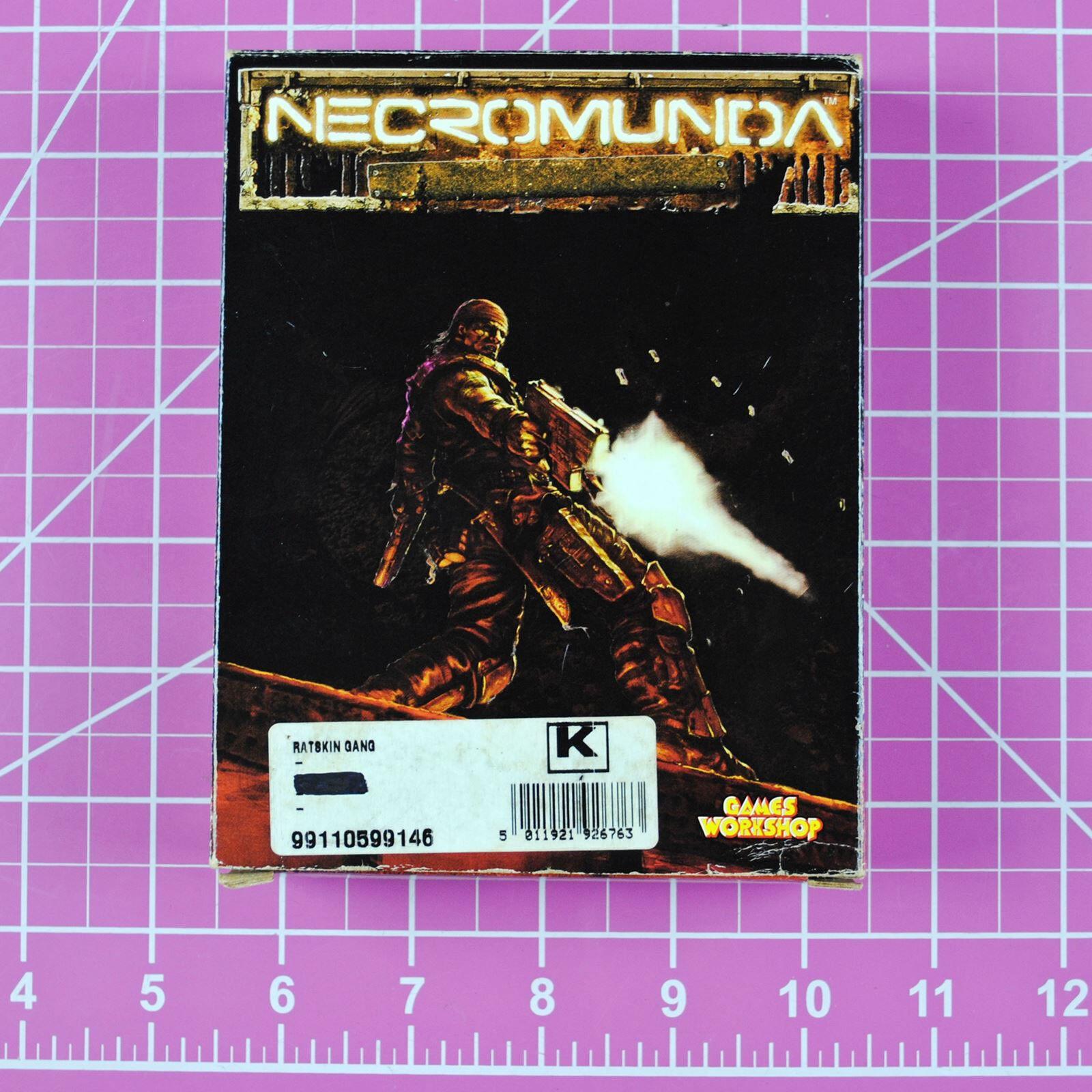 Necromunda Ratskin Gang Boxed Set Rare OOP Games Workshop Warhammer 40K Ratskins