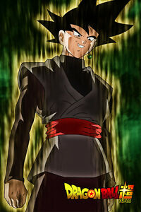 Dragon Ball Super Poster Goku Black Glowing 12in x 18in Free Shipping