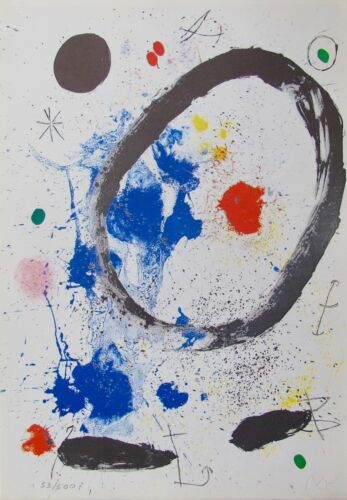 Joan Miro TWILIGHT/'S RING Facsimile Signed Limited Edition Lithograph Art