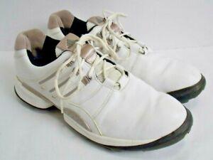 Adidas-Leather-Men-SZ-8-5-US-Golf-Shoes-Torsion-System-Adiprene-Z-Traxion-White