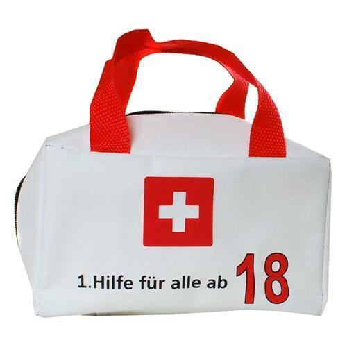 HILFE FÜR ALLE AB 18 Geschenkartikel 18 TASCHE 1 Geburtstag Deko zum befüllen