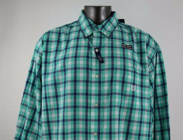 NEW CHAPS Easy Care, Easy Wear  Men's Long Sleeve Shirt Size 3XLT