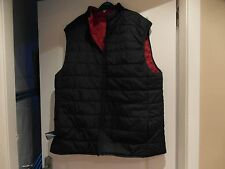 C & A  Padded Body Warmer Medium SizeXL Reversible Navy Red