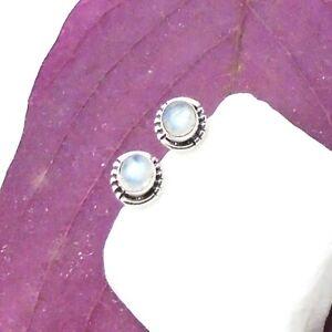 Mondstein-rund-Bluete-Design-Ohrringe-Ohrstecker-Stecker-925-Sterling-Silber-neu