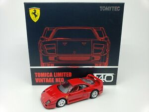 1-64-Tomytec-Tomica-Limited-Vintage-Neo-Ferrari-F40-Red-TLV-N-Opening-Bonnets-LE