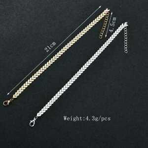 UK-Women-Ankle-Bracelet-925-Plated-Silver-Anklet-Foot-Chain-Boho-Beach-Fashion