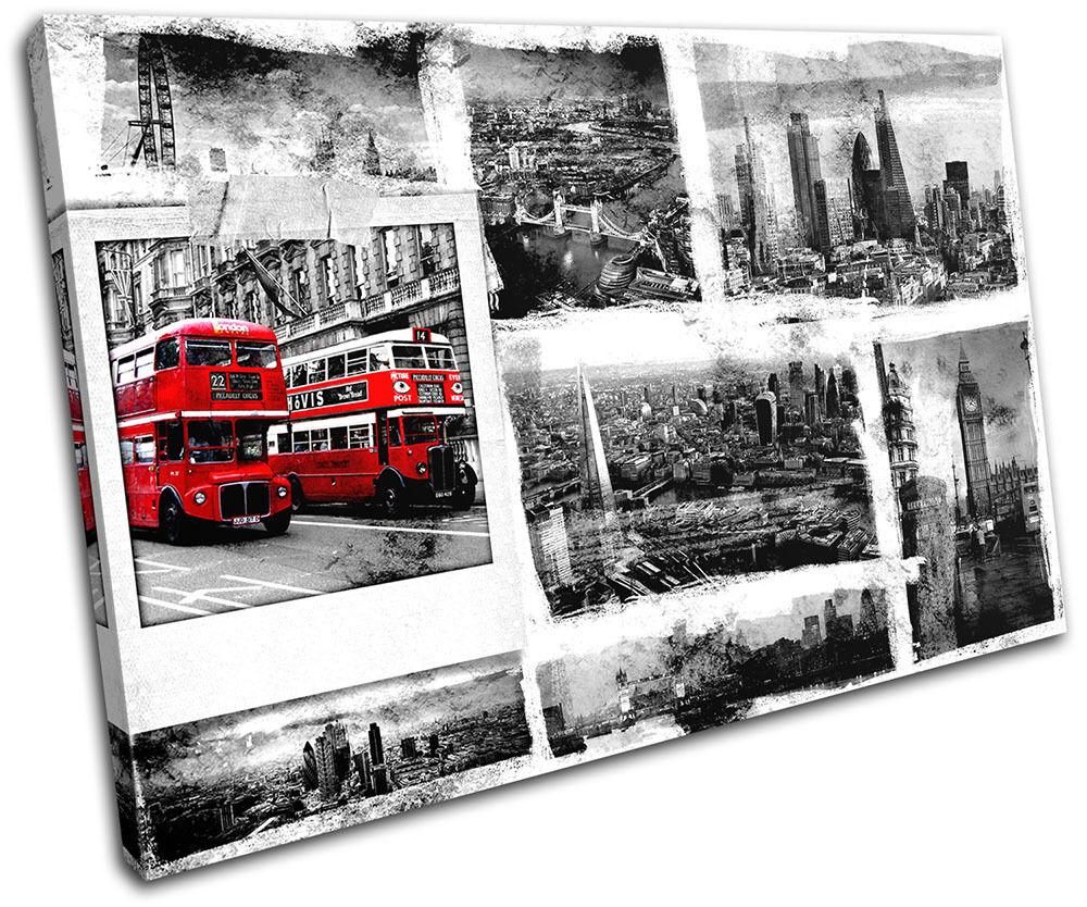 London Grunge City SINGLE TELA parete parete parete arte foto stampa a1576c