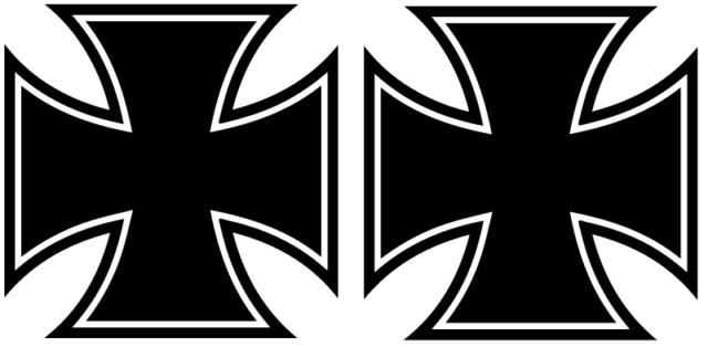 Iron Cross Aufkleber Eisernes Kreuz 10x10cm