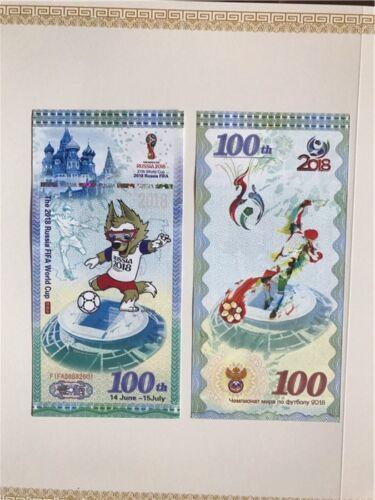 LOT 100 PCS,2018 Russian World Cup Memorial Test Banknote//UNC