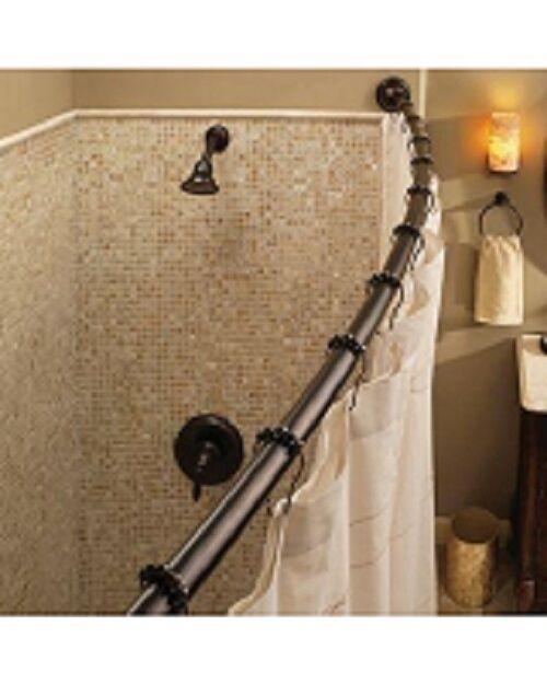 Moen Adjustable Curved Shower SINGLE Rod OLD WORLD BRONZE For Sale