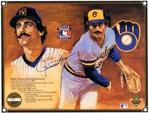 Rollie-Fingers-autographed-signed-autograph-1992-HOF-Induction-Upper-Deck-sheet