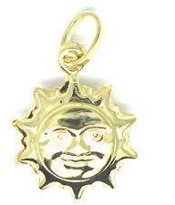 9ct Yellow Gold Sun Charm  / Pendant                                        3813