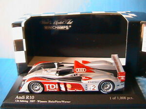 Audi R10 Tdi # 2 Gagne 12h Sebring 2007 Biela Pirro Werner Minichamps 400071692