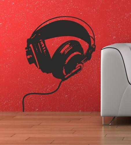 Casque musique Chambre Mur Art autocollant autocollant graphique TR2