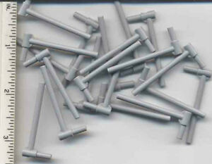 Lego 5 New Light Bluish Gray Bar 5L with Handle Friction Ram Parts