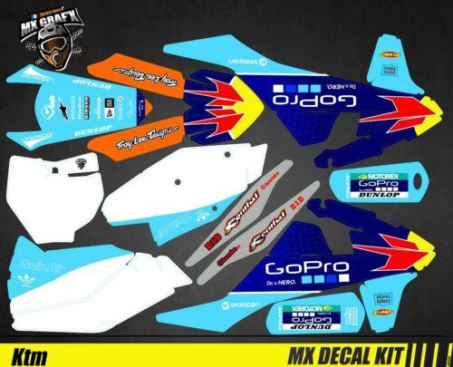 GoPro Blue Edition SX-F Kit Déco Moto pour Mx Decal Kit for Ktm SX