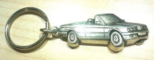 Mass Vehicle 50x22mm BMW Keyring 3er E30 Cabriolet Relief