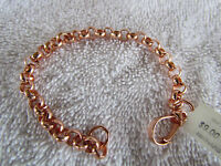 Bright Copper Cable Dome Link Bracelet 9.5 Inch 6777d9