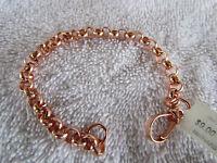 Bright Copper Cable Dome Link Bracelet 9.5 Inch 6777d9
