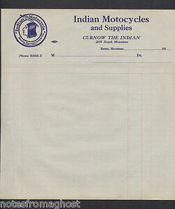 image is loading early 1900 039 s indian motorcycle invoice butte