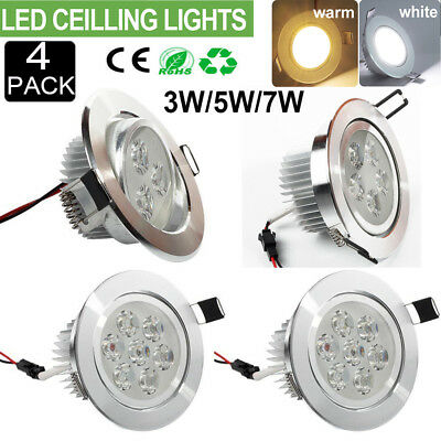 4pcs Cree Led Recessed Ceiling Light 3w 5w 7w Downlight Spot Lamps Bulb Dimmable Ebay