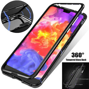 Details about For iPhone XS MAX 8 7 6 Plus Magnetic Absorption Case  Tempered Glass Metal Cover