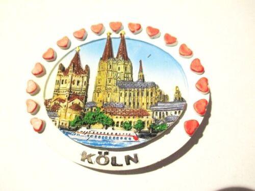 souvenir Allemagne Germany Aimant Cologne Coeur Cologne Dom moulés nouveau