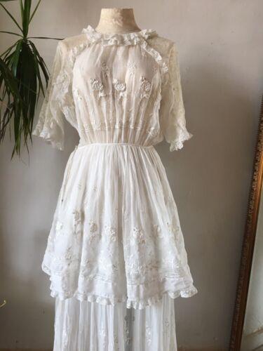 Edwardian Summer Dress 1900s 1910s Lawn Dress