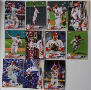 2018-Topps-Series-1-St-Louis-Cardinals-Team-Set-of-11-Baseball-Cards