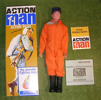 Action Man 40th Boxed Action Pilot Red Painted Hair Hard Hands ( Gi Joe )