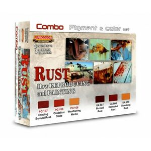 Lifecolor-SPG03-Rust-Rost-Combo-Pigment-amp-Color-Set-6x22-ml-100ml-15-91
