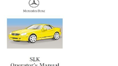 CD Mercedes SLK R170 1996-2004  operator  manual